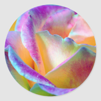 Rainbow Rose Flower Sticker
