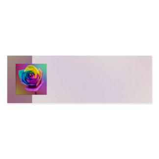 Rainbow Rose Flower Wedding Business Card