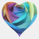 Rainbow Rose Flowers Peace Love Destiny Heart Sticker