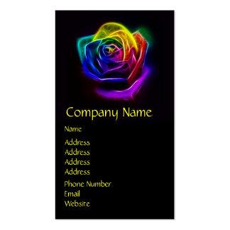 Rainbow Rose Fractal Business Card Templates