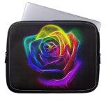 Rainbow Rose Fractal Computer Sleeve