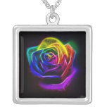 Rainbow Rose Fractal Custom Jewelry