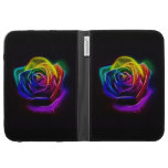Rainbow Rose Fractal Kindle 3G Cases