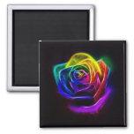 Rainbow Rose Fractal Refrigerator Magnets