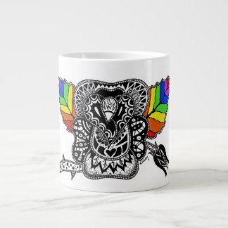 Rainbow Rose Giant Coffee Mug