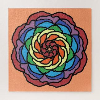 Rainbow Rose Jigsaw Puzzle