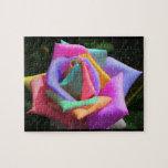 Rainbow Rose Jigsaw Puzzles