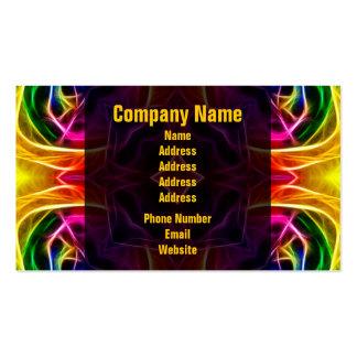 Rainbow Rose Kaleidoscope Business Card Templates