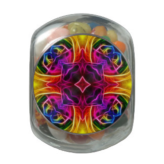 Rainbow Rose Kaleidoscope Jelly Belly Candy Jar