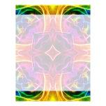 Rainbow Rose Kaleidoscope Letterhead