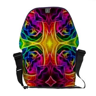 Rainbow Rose Kaleidoscope Messenger Bags