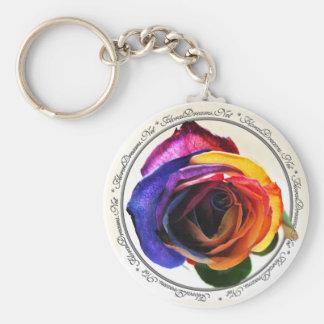 Rainbow Rose Keychain