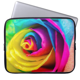Rainbow Rose Laptop Sleeve