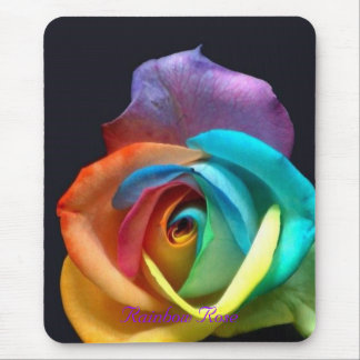 Rainbow Rose Mouse Pad