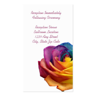 Rainbow Rose Reception Card Business Card