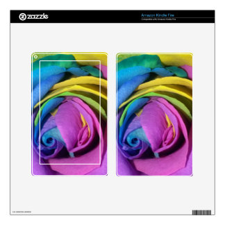 Rainbow Rose Kindle Fire Decal