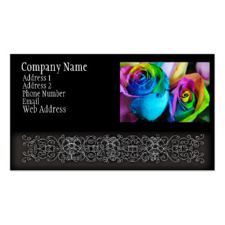 Rainbow Roses 5 Business Cards