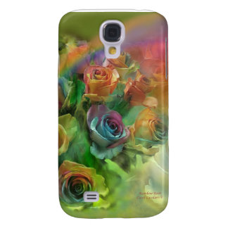 Rainbow Roses Art Case for iPhone 3 Samsung Galaxy S4 Cover