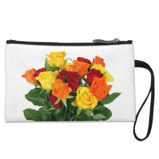 Rainbow Roses Clutch Wristlet
