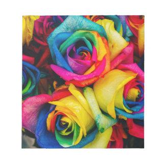 Rainbow Roses Notepad