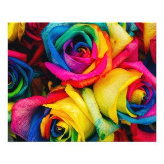 Rainbow Roses Rose blossoms romantic peace joy Flyer