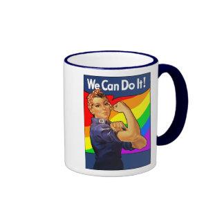 Rainbow Rosie Mugs