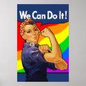 Rainbow Rosie print