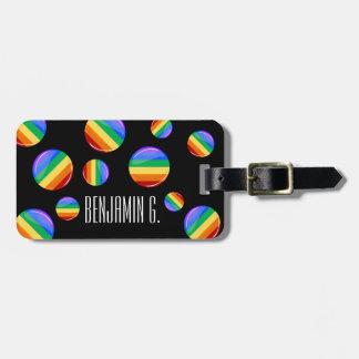 Rainbow Round LGBT Flag Bag Tag