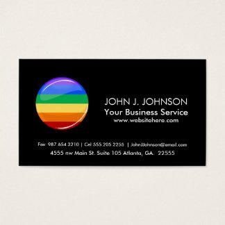Rainbow Round LGBT Flag Business Card