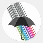 rainbow round stickers