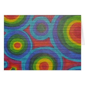 Rainbow Rounds - Abstract Circles Pattern Design Card