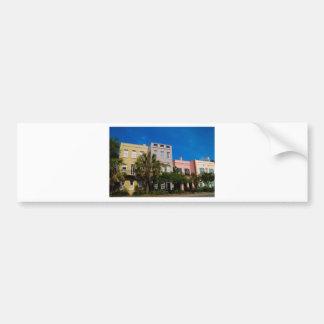 Rainbow Row Charleston, SC Car Bumper Sticker
