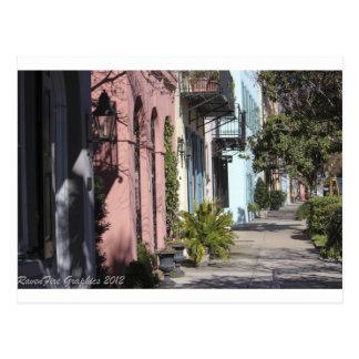 Rainbow Row Charleston SC Postcard