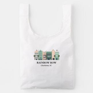 Rainbow Row Charleston South Carolina Baggu Reusable Bag