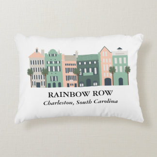 Rainbow Row Charleston South Carolina Pillow