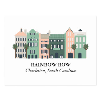 Rainbow Row Charleston South Carolina Postcard