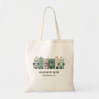 Rainbow Row Charleston South Carolina Tote Bag