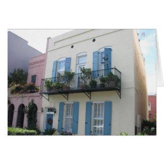 Rainbow Row Houses, Charleston SC Card