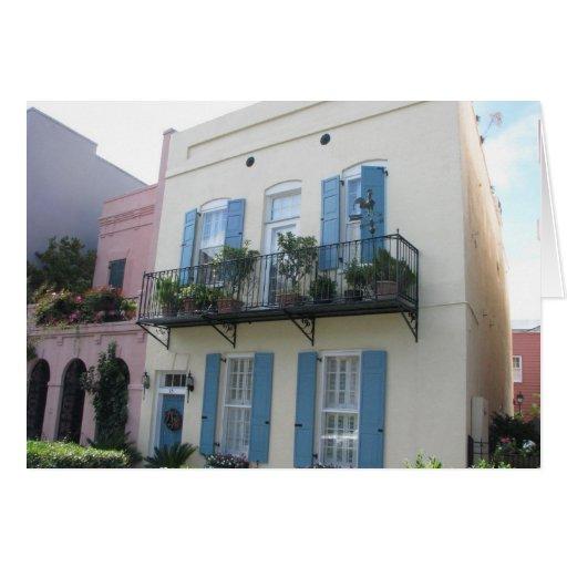 Rainbow row houses charleston sc card zazzle for Charleston row houses