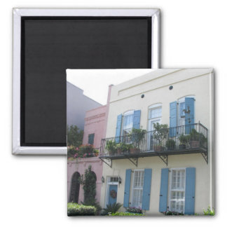 Rainbow Row Houses, Charleston SC Magnet