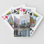 Rainbow Row Houses, Charleston SC Playing Cards