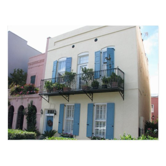 Rainbow Row Houses, Charleston SC Postcard