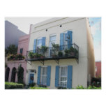 Rainbow Row Houses, Charleston SC Poster