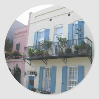 Rainbow Row Houses, Charleston SC Stickers