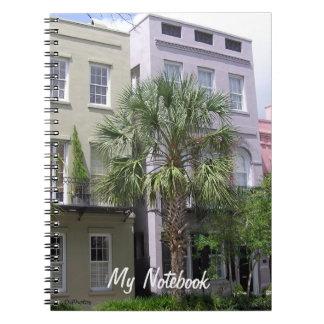 Rainbow Row Houses, Charleston Spiral Notebook