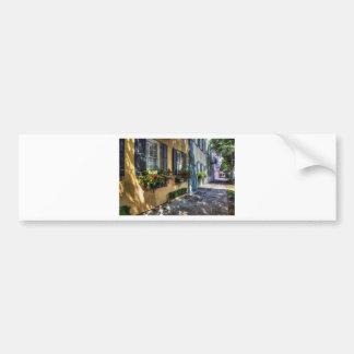 Rainbow Row.jpg Car Bumper Sticker