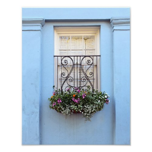 Rainbow Row Window Flower Box, Charleston, S.C. Photo Print