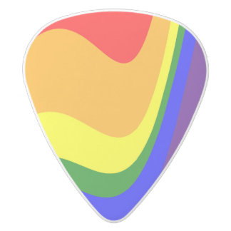 Rainbow Roy G Biv White Delrin Guitar Pick