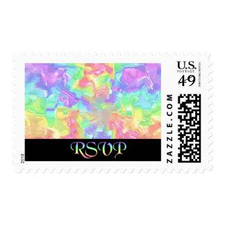 Rainbow RSVP Postage Stamps