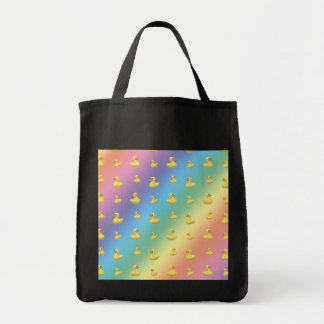 Rainbow rubber duck pattern canvas bags